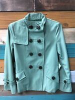 Croft & Barrow Women's Green Rain Resistant Pea COAT JACKET (SIZE SMALL)