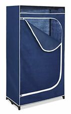 Clothes Closet Storage Wardrobe Organizer Fabric Zipper Home Garage Attic Office