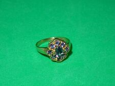 Attractive 9ct Yellow Gold & Amethyst Ring - Size L - 2.67g