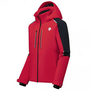 Descente Mens Insulated Jacket Challenger Red Black 3M Warm Ski Winter Sports