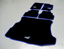 Negro/Azul SV Alfombras De Coche Subaru Impreza Clásico 92-00 + RB5 Logos+