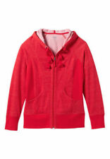 NEW~$44~Maurices~Plus Size 0~14~Full Front Zip~Hoodie~With Pockets~Red Speck