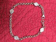 Womens Harley Davidson  Bar And Shield Silver Bracelet