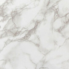 Glossy Marble Look Contact Paper Self Adhesive Wallpaper Wall Sticker Beige Grey