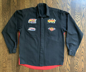 Vintage 90s Billy Moyer WORLD OF OUTLAWS CREW SHIRT XL RICHMOND NASCAR RARE
