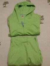 Hanes Women's Hooded Sweatsuit XL Green Sweatshirt Pants Casual Activewear