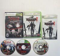 Xbox 360 Ninja Gaiden II 2 & Ninja Gaiden Z 2 Game Lot!! FAST SHIP!!