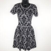 Romeo + Juliet Couture Womens Short Sleeve A Line Dress Grey Size S