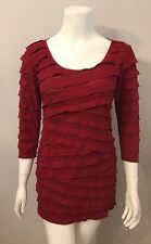 Stunning Max Studio Red Tiered Mini Tunic Dress Size M