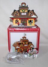 "NEW Dept 56 & Disney Mickey's Merry Village Lighted ""MICKEY'S TRAIN STATION"""