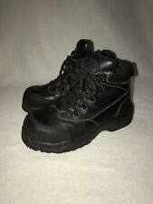 SFC SHOES FOR CREWS UNISEX WORK BOOTS, STEEL TOED, WOMEN SIZE 5.5, MALE SIZE 4