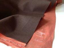 """100% Cotton Designer Reversible Denim Choc Brown / Orange Fabric 53"""" 136cm craft"""