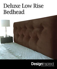 Deluxe Low Upholstered Bedhead / Headboard for Queen Size Ensemble - Chocolate