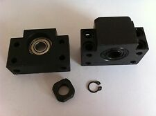 Ballscrew end supports bearing mounts BK20 BF20 bearing blocks 2 pcs