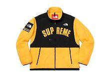 Supreme/The North Face Arc Logo Denali Fleece Jacket - Yellow Size Large
