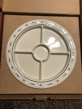 New ListingNew Longaberger Divided Relish Plate, Box, Blue Pottery, Large