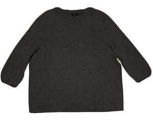 Talbots Women's Pullover Sweater Pure Cashmere - Size 3X - Gray