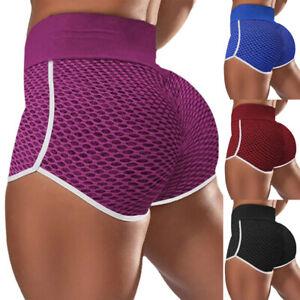 Womens Butt Lift Sports Fitness Shorts Running Skinny Yoga Hot Pants Activewears