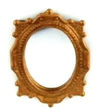 Dolls House Ornate Oval Wall Mirror Bronze Painted Frame Miniature Accessory