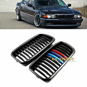 Glossy Black Kidney M-Color Grill Front Grille for BMW E38 7 SERIES Saloon 98-01