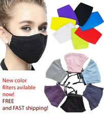 Clearance quality cotton reusable fashion cloth Face Mask with filter pocket