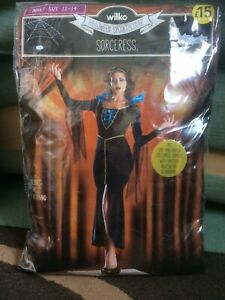 New Wilko Sorceress Halloween Outfit. Adult Size 12/14 BNWT