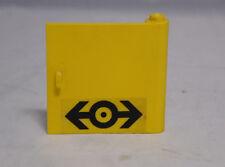 Lego Tür Türe Door gleb mit Aufkleber aus 4546 Lokomotive Lok Train #4