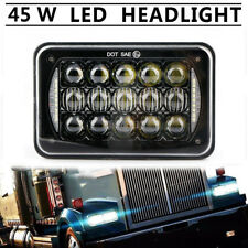"DOT Approved Car 4x6""LED Headlights DRL Lamp For Peterbilt Kenworth Freightliner"