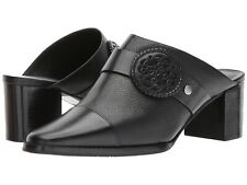 NEW BRIGHTON Trevi 7M black leather mules slides shoe boots designer $250