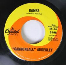 """Jazz 45 """"Cannonball"""" Adderley - Games / Mercy, Mercy, Mercy On Capitol Records"""