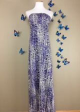 VELVET Graham &Spencer Anthropologie $185 Strapless Animal Print Maxi Dress SZ S