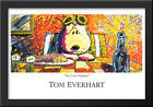 The Last Supper 40x28 Extra Large Black Wood Framed Art Print by Tom Everhart
