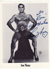 SIGNED Lou Thesz Wrestling Photo WWF WWE WCW Hall Of Fame