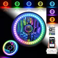 1x 5-3/4 RGB SMD LED Color Chase Chasing Halo Shift Angel Eye Morph H4 Headlight