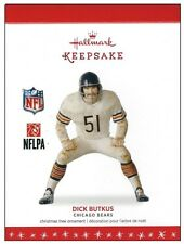 2016 Hallmark NFL Foootbal Legend Chicago Bears Dick Butkus Ornament!