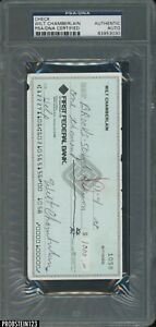 """Wilt Chamberlain HOF Signed Check PSA/DNA Authentic AUTO """" EXTREMELY RARE """""""