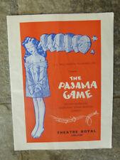 OLD AUSTRALIAN 1950s THE PAJAMA GAME, ROYAL THEATRE PROGRAM