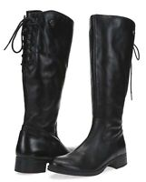 BUSSOLA Women's 'Siena' Black Leather Knee High Boots Size 36 NEW! 229136