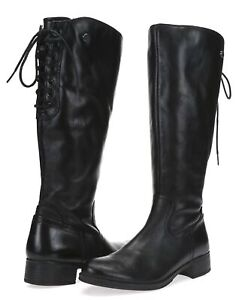 NIB 7 38 BUSSOLA Women/'s /'SALMA/' Charcoal KNEE HIGH RIDING BOOTS