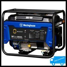 WESTINGHOUSE 4650 Watt Gasoline Powered Portable Generator Quiet RV Camping Home