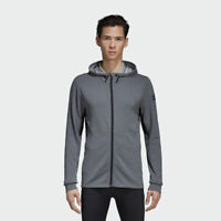 adidas Climacool Textured Hoodie NEW men CD7839 grey