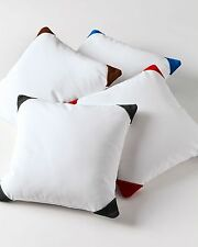 Suede Cap Pillow Cover Set 1000 TC 100% Egyptian Cotton Solid All Sizes & Colors