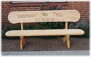Geburtstagsgeschenk.Hochzeitsgeschenk.Gartenbank mit gravur (Name Ringe Name ).