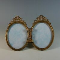 Antique 19th Century French Gilded Double Bow Top Photo Frame