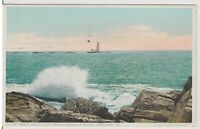 Rams Ledge-  ME From Cushing Island Light House vintage Postcard