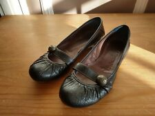 Ladies Black Leather Flat dolly ballerina style MISS SIXTY 60 Shoes slip on  5