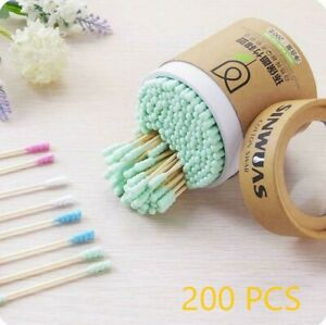 Bamboo Cotton Swabs Wood Sticks Double Headed Cleaning Of Ears Cotton Q Tips Kit