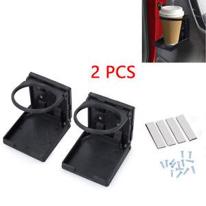 2PCS Universal Plastic Foldable Cup Drink Holder Bracket Auto Car Truck Boat RV