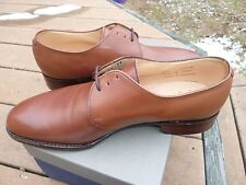 NEW! Peal & Co 3-Eyelet Derby Med. Brown 9D Shoes NWB Brooks Bros Leather UK