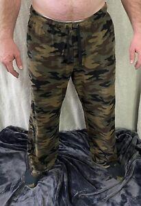 Croft & Barrow Brown Camouflage (Camo) Men's Large Polyester Pajama Pants